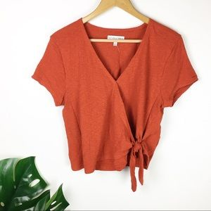 Madewell   Texture and thread wrap top size m